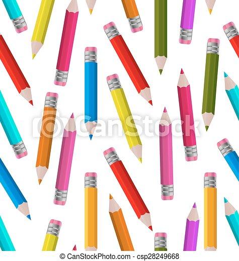 crayons, papier peint, seamless, coloré - csp28249668