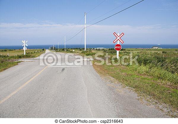 croisement, chemin fer - csp2316643