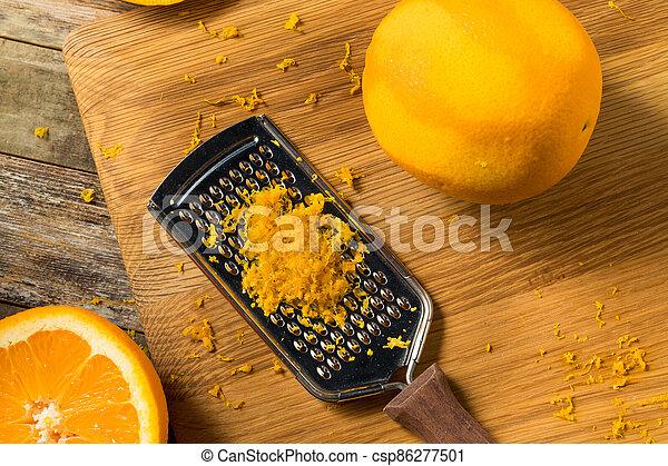 cru, zeste, orange, organique - csp86277501