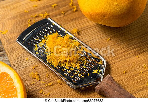cru, zeste, orange, organique - csp86277682