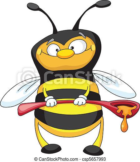 cuillère, abeille - csp5657993