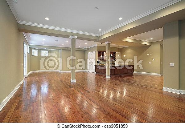 cuisine, construction maison, nouveau, sous-sol - csp3051853