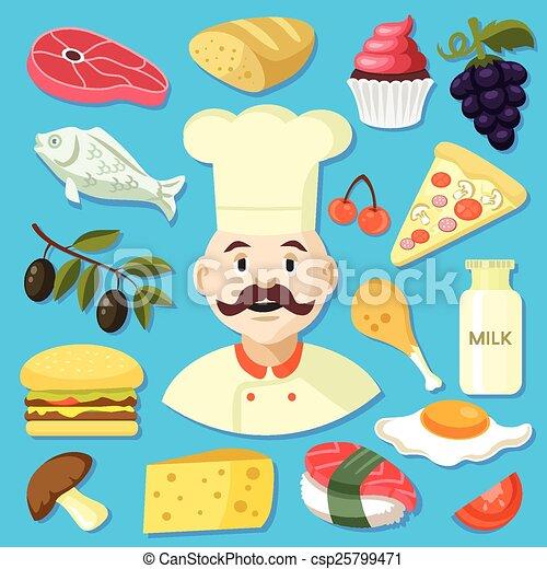 cuisine, illustration - csp25799471