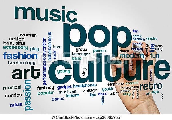 culture, mot, pop, nuage - csp36065955