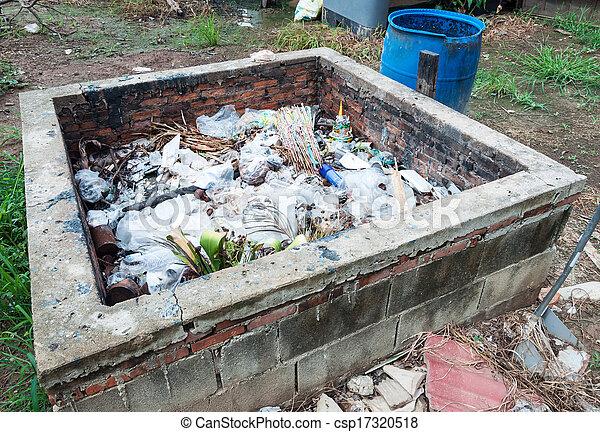 décharge ordures - csp17320518
