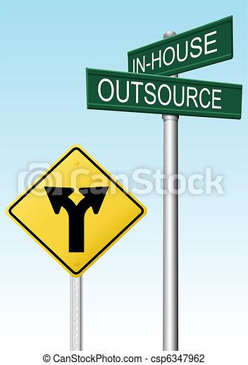 décision, fourniture, outsourcing, business, signes - csp6347962