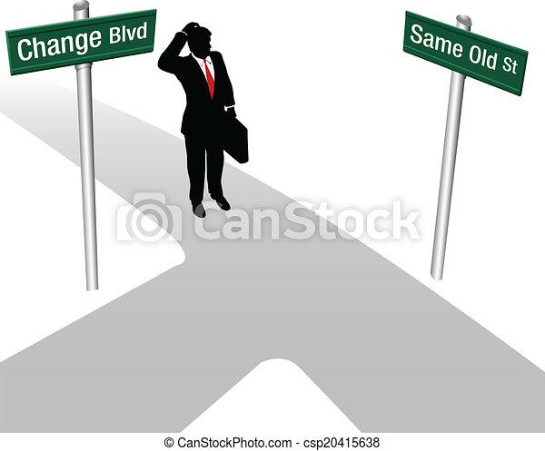 décision, même, personne, choisir, ou, changement - csp20415638