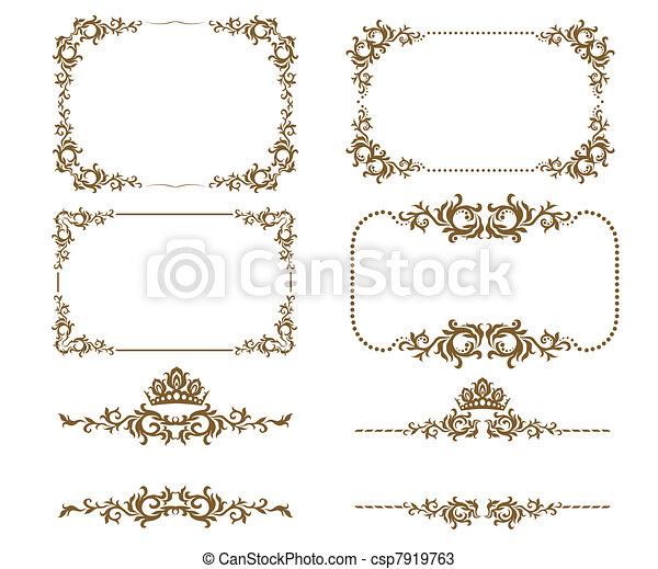 décoratif, cadre - csp7919763