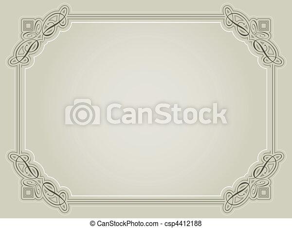 décoratif, certificat, fond - csp4412188