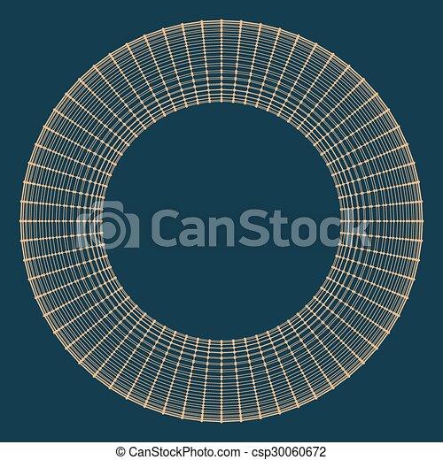 décoratif, vecteur, lattice., frame., poligonal., résumé, maille, grille, polygons., moléculaire, structural - csp30060672