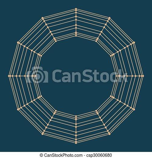 décoratif, vecteur, lattice., frame., poligonal., résumé, maille, grille, polygons., moléculaire, structural - csp30060680
