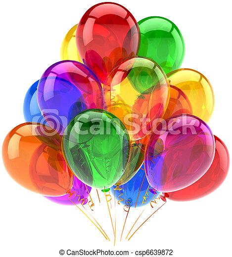 décoration, fête, anniversaire, ballons - csp6639872