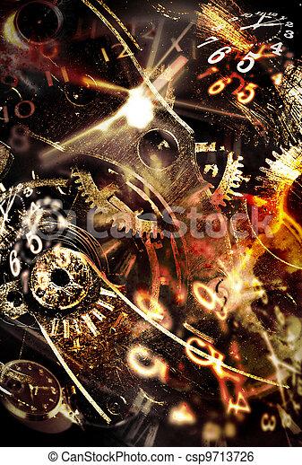 dépenser, résumé, arrière-plans, time., conceptuel, ton - csp9713726