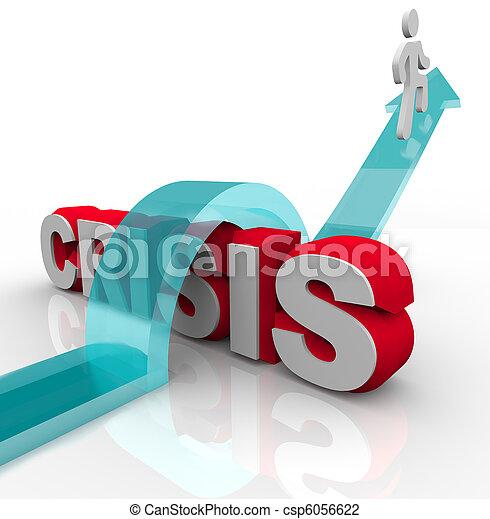 désastre, urgence, -, surmonter, plan, crise - csp6056622
