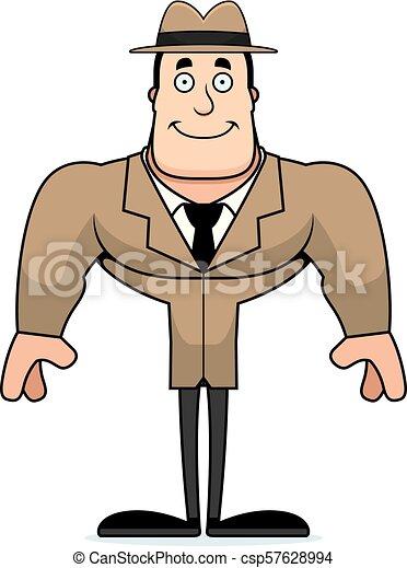 détective, sourire, dessin animé - csp57628994