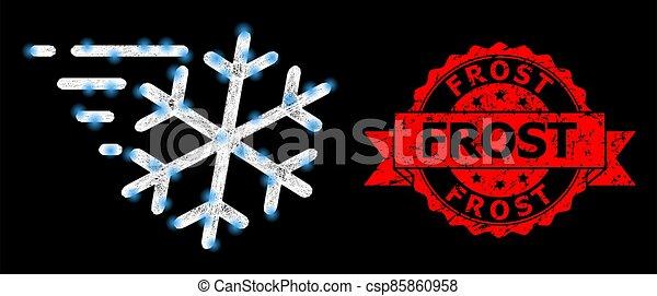 détresse, cachet, clair, lightspots, réseau, gelée, vent, polygonal - csp85860958