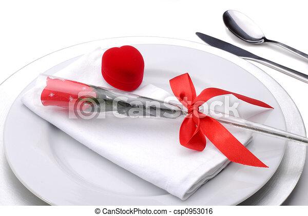dîner, valentines - csp0953016