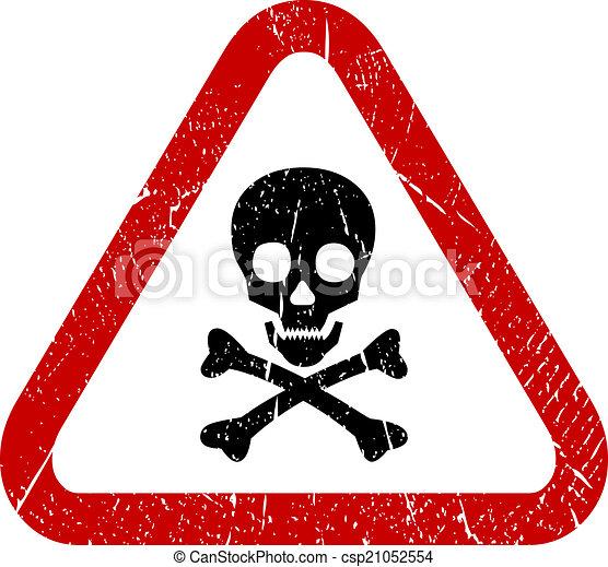 danger, crâne, icône - csp21052554