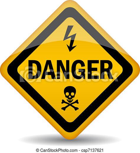 danger, panneau avertissement - csp7137621
