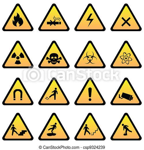 danger, prévenant signes - csp9324239