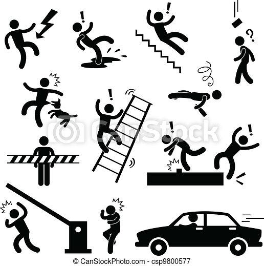 danger, prudence, accident, sécurité, signe - csp9800577