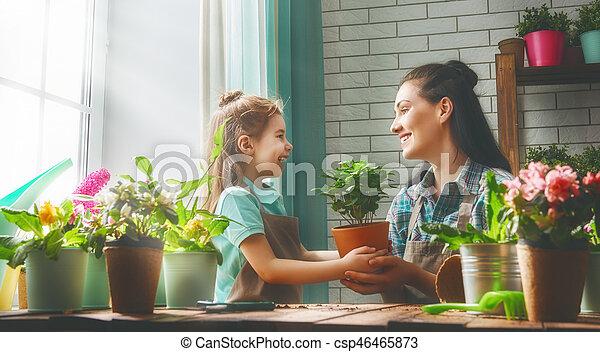day., printemps, famille, heureux - csp46465873