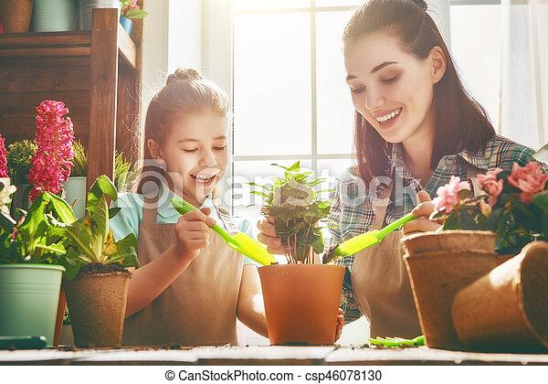 day., printemps, famille, heureux - csp46078130
