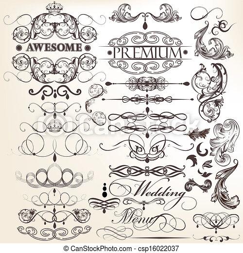 decorati, collection, calligraphic - csp16022037