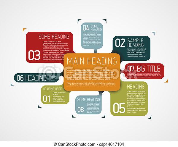 descriptif, diagramme, vecteur, divers, gabarit, bulles - csp14617104