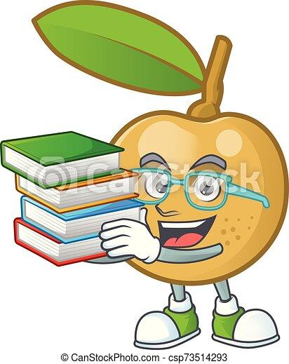 dessert, longan, frais, delicious., étudiant, dessin animé, livre - csp73514293