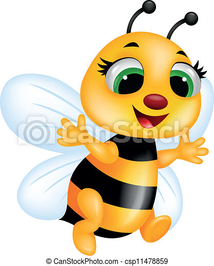 dessin animé, abeille - csp11478859