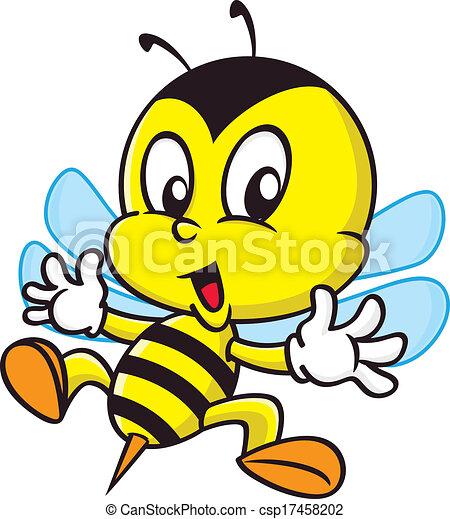 dessin animé, abeille - csp17458202