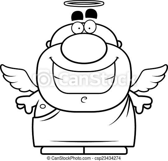 dessin animé, ange - csp23434274
