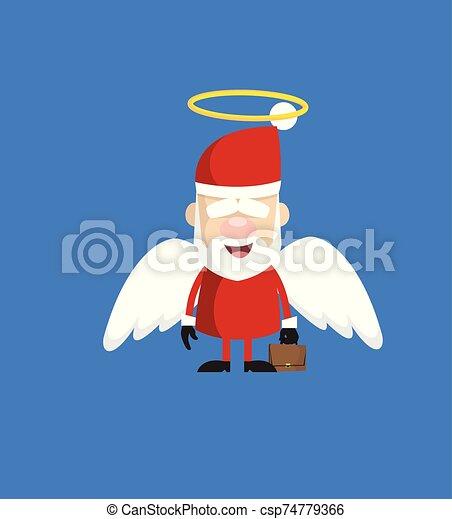 dessin animé, ange, simple, -, santa costume - csp74779366