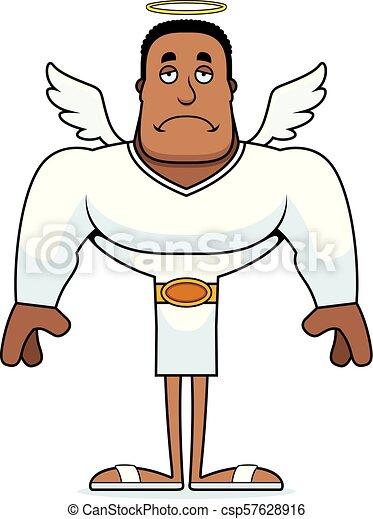 dessin animé, ange, triste - csp57628916