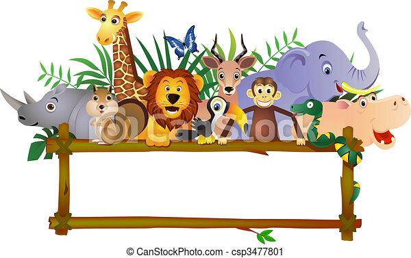 dessin animé, animal - csp3477801