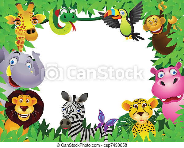dessin animé, animal - csp7430658