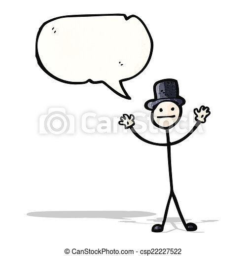 dessin animé, homme bâton - csp22227522