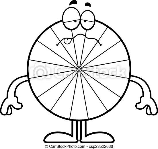 dessin animé, malade, menthe poivrée - csp23522688