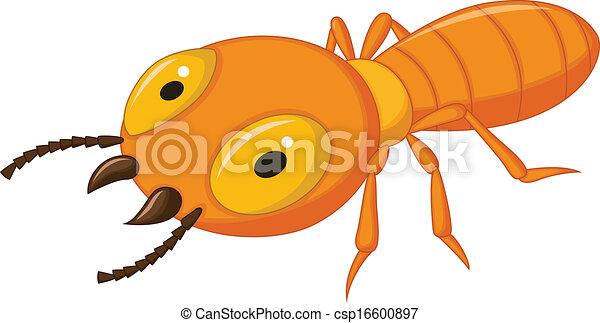 dessin animé, termite - csp16600897