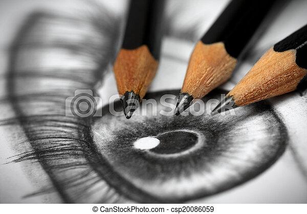 dessin crayon - csp20086059
