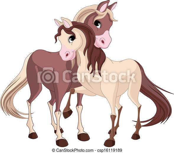 deux, chevaux - csp16119189