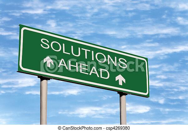 devant, solutions, panneaux signalisations - csp4269380