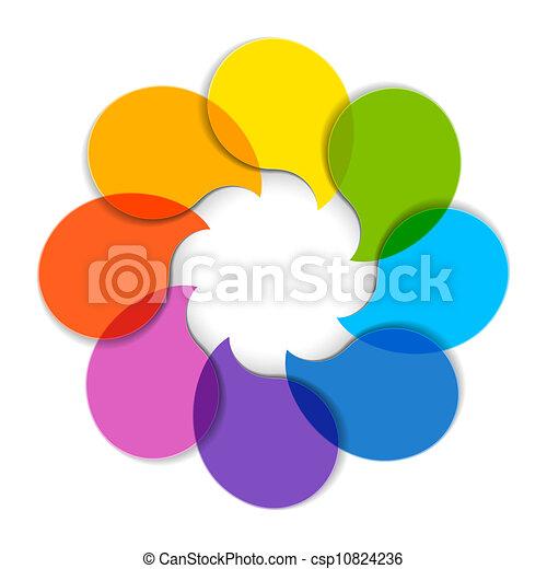 diagramme, cercle - csp10824236