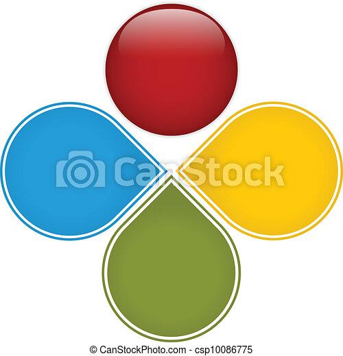 diagramme, coloré, business, lustré - csp10086775