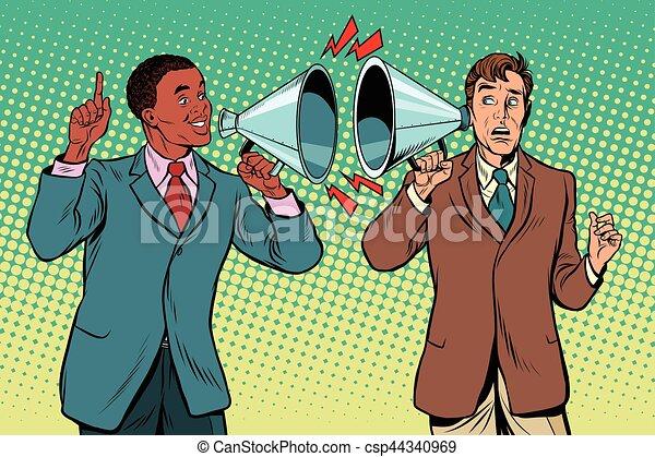 dialogue, interracial, inter-ethnic, relations, t, politique - csp44340969