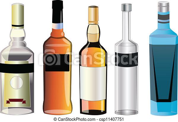 différent, alcool, saveurs - csp11407751