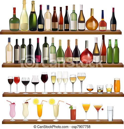 différent, ensemble, boit bouteilles - csp7907758