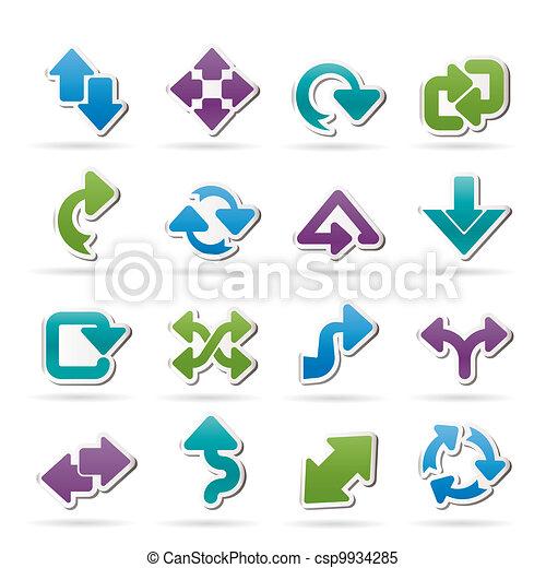 différent, flèches, espèce, icônes - csp9934285
