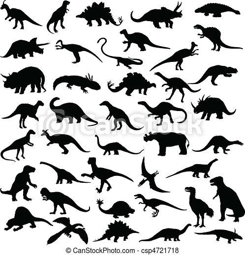 dinosaure, reptiles - csp4721718